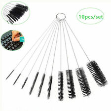 10Pcs Nylon Bottle Pipe Tube Nozzle Cleaning Brush Home Kitchen Clean Tool Set