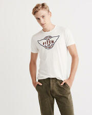 Abercrombie & Fitch Mens T-Shirt Logo Graphic Tee Shirt L or XL White NWT