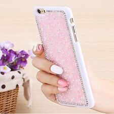 Luxury Glitter Bling Crystal Diamond PC Case Cover For iPhone Samsung Galaxy B
