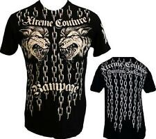 AFFLICTION Xtreme Couture Rampage Jackson Mens SMALL Chains Wolf T shirt UFC Tee