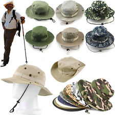 Unisex Bucket Hat Boonie Hunting Fishing Outdoor Women Men Cap Washed Cotton