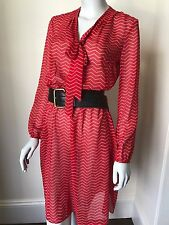 EX M&S Gorgeous Chiffon Pussybow Dress UK 10 12 14 16 18 NEW 40s 80s