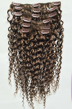 Curly hair  Clip in Human Hair Extensions 7PCS 70g clip in hair set for women