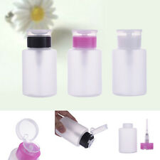 Nail Art Pump Dispenser Empty Bottle for Polish Cleaner Remover Make Up Tools