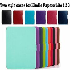 Smart Sleep/ Wake Magnetic PU Leather Case Cover For Kindle Paperwhite 1 2 3 NEW
