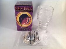 The Lord of the Rings Fellowship of the Ring Glass Goblet Frodo Baggins NIB!