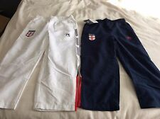 BNWT Boys Blue or White Respect The Game England tracksuit Bottoms -Various Size