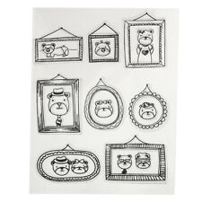Transparent Silicone Clear Rubber Stamp Seal Sheet Cling Scrapbooking DIY Crafts