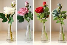 3 heads Flannel Artificial Roses Silk Flowers Wedding Bouquet Home Decoration