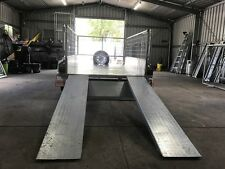 8x5 Heavy Duty Tandem Galvanized Machinery Trailer- 2ft Cage - Slide Under Ramps