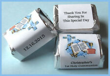 PERSONALIZED boy COMMUNION BAPTISM Hershey Candy Wrappers NUGGET LABELS FAVORS