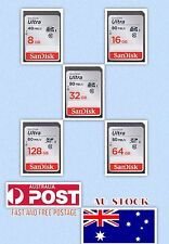 SD Card SanDisk Ultra SDHC/SDXC Class10 - 8 16 32 64 128GB -  Micro-SD Reader