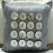 Mother Of Pearls 35x35 cm Art Silk Silver Cushion Covers - Vintage Pearls