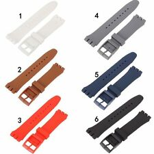 Black Waterproof Silicone Rubber Sport Wrist Watch Band Strap Wristband 17-20mm