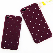 Ultra Slim Polka Dot Soft Silicone Shockproof TPU Case Cover for iPhone 6 7 Plus