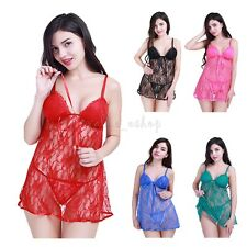 Sexy Womens Lingerie Lace Dress Underwear Sleepwear Babydoll Nightwear G String