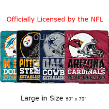 NEW: Large NFL Football Multi-Team Soft & Plush Tailgate Throw Blanket: 60 x 70""