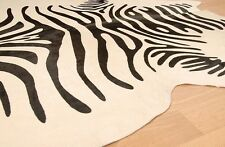 Zebra Print Cowhide Rug Brazilian Cow Hide Area Rugs Skin Leather