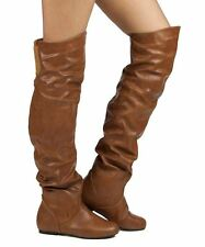 RF Room Of Fashion Trend-Hi Over-the-Knee Slouchy Low Heel Boots COGNACPU