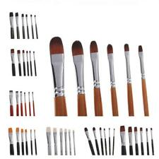 6pcs Nylon Hair Artist Brushes Set Acrylic Oil Watercolour Painting Art Supplies