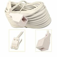 RJ11 UK Male to Female ADSL Broadband Telephone Fax Extension Cable 3m 15m 30m