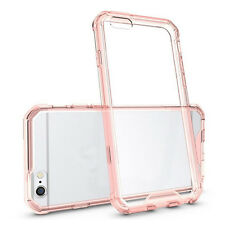 Shockproof Rubber Clear Hard Plastic Case Back Cover For iPhone 6 6s Plus 7 Plus