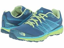 NIB WOMENS THE NORTH FACE LITEWAVE TR BLUE GREEN TRAIN ATHLETIC RUNNING TRAIL
