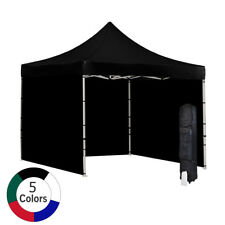 Vispronet 10'x10' Ez Pop-Up Canopy Tent Commercial with Sides - Steel Hex Frame