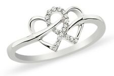 Infinity Hearts 925 Sterling Silver AAA CZ Ring