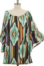 NWT~BOUTIQUE~AZTEC~BELL SLEEVE~TOP/TUNIC~SMALL, LARGE~SHABBY CLOSET~SALE