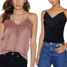 Womens Sleeveless Casual Fashion V-Neck Lace Vest Tee Shirt Tops Blouse Tank Top