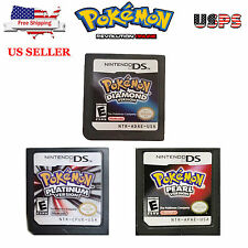 Pokemon Platinum/Diamond/Pearl US Version Game Cards For Nintendo 3DS NDSI NDSL
