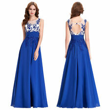 Appliques Evening Prom Ball Gown Party Cocktail Pageant Bridesmaid Dresses 6-20
