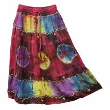 Lace Tie Dye Skirt  - Assorted Colours - Hippie Hobo Boho Women's Festival Skirt
