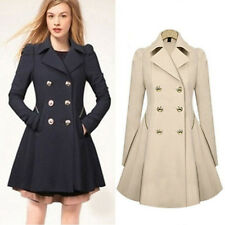 Winter Womens Lapel Stylish Long Parka Coat Trench Ladies Fashion Outwear Jacket