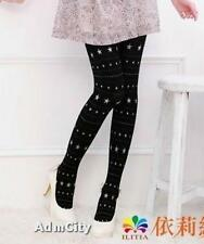 Admcity Opaque Spandex Pantyose Tights with Silver Star Glitter Black/Silver