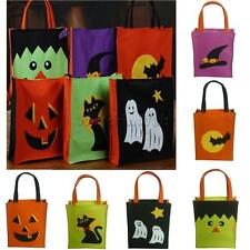 Halloween Party Trick or Treat Handled Loot Bag Pumpkin/Cat/Ghost/Wizard/Hat/Bat