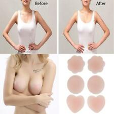 1/2/3Pairs Reusable Self Adhesive Silicone Breast Nipple Covers Bra Pasties Pads