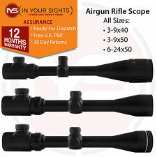 Airgun Rifle scope/ Air gun riflescope / All sizes: 3-9x40, 3-9x50, 6-24x50