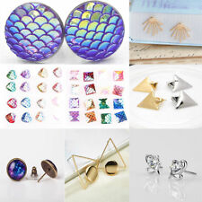 Women Lady Charming Crystal Scale/Bow/ Triangle Ear Studs Earrings Jewelry Gift
