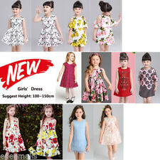 Lovely NEW Princess Girls Dress Sleeveless Casual Party Holiday kids dresses