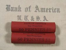 ONE UNSEARCHED - Lincoln Wheat Penny Roll 50 Pennies - 1909 1958 P D S (396)