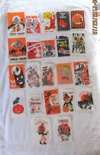 VTG LOT 22 Halloween Paper Trick or Treat Candy Bags Witches Black Cats Craft
