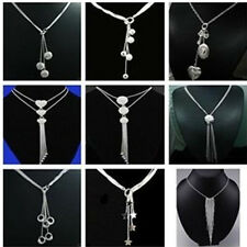Wholesale Price Jewelry 925 SILVER Chains Necklace Pendants Drops XMAS Gift+Box