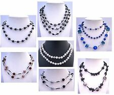 Jewelry Necklace Summer Long Necklaces Pearls Beads Crystal US Free Shipping