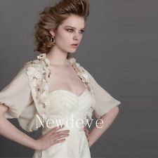 Antique Bridal Wedding Dress Jacket White Ivory Bolero Bubble Half Sleeves Shrug