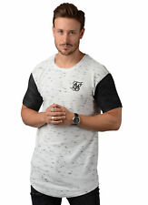 Sik Silk T-Shirt - Mens 12304 Inject Waffle Tee In White & Black