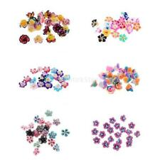 20pcs Bright Color Polymer Clay Flower Spacer Loose Beads for Necklace Bracelet