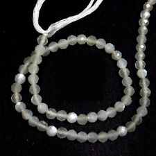 "Natural White Moonstone Gemstone Beads Rondelle Faceted Cut Full 13"" Strand"