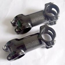 "Carbon Fiber 1-1/8"" 3K 31.8 MTB Road Bike Bicycle Handlebar Bar Stem 60-110mm"